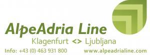 Logo: Petkov kolaž: AlpeAdria Line Celovec <> Ljubljana