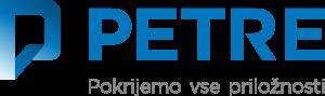 Logo: Petkov kolaž: PETRE šotori – hale d.o.o.