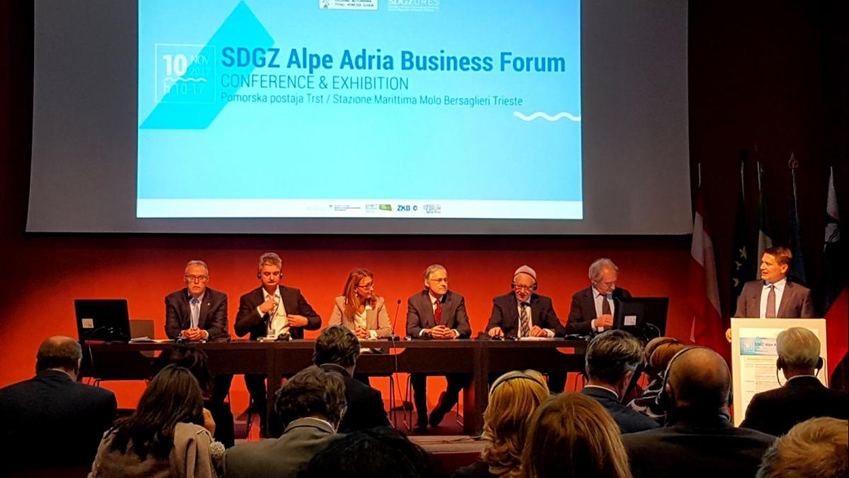 Slika: Alpe Adria Business Forum - 10.11.2017 - Trst