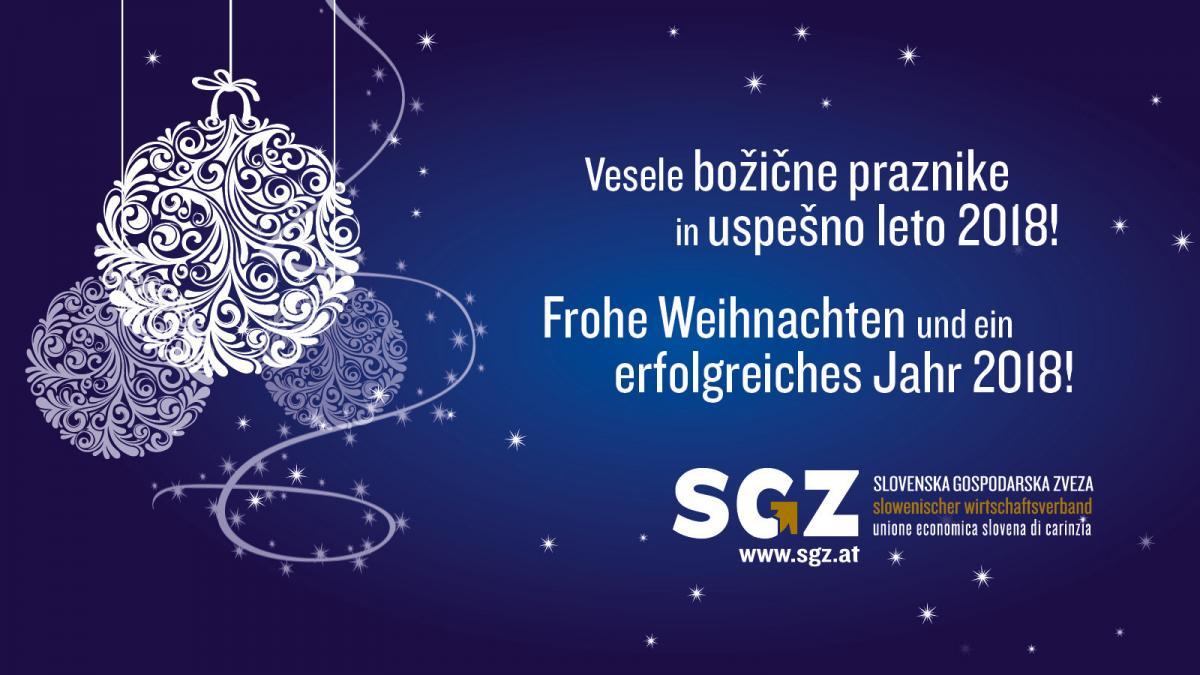 Frohe Weihnachten Slowenisch.Frohe Weihnachten Und Ein Erfolgreiches 2018 Sgz