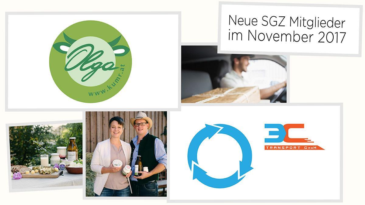Slika: Petkov kolaž: novi člani SGZ v novembru 2017