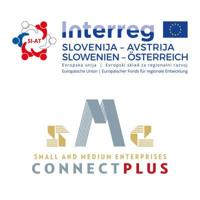 Slika: Connect SME Plus Logo - Interreg Logo