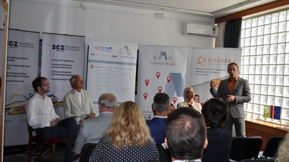 Slika: Predstavitev evropskega projekta Connect SME PLUS