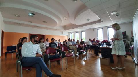 Bild: Connect SME Plus -  Export talk an der OOZ Kranj