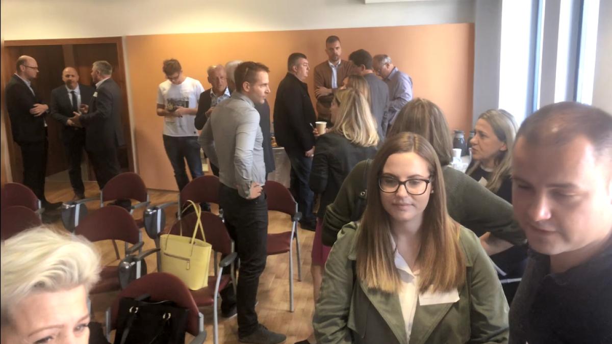 Slika: Poslovno srečanje podjetnikov štirih držav