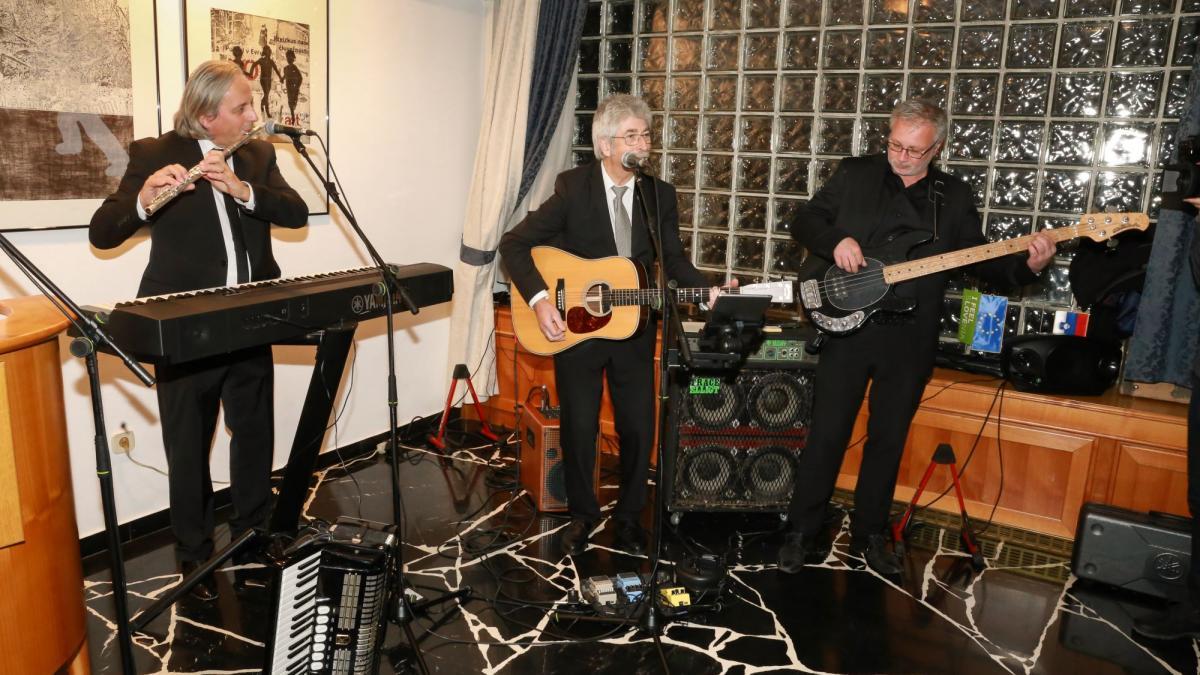 Slika: Trio Drava: Roman Verdel, Toni Boschitz, Marian Verdel (z leve)