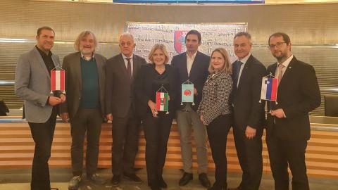 Bild: Treffen der Partnerstädte Klagenfurt und Nova Gorica
