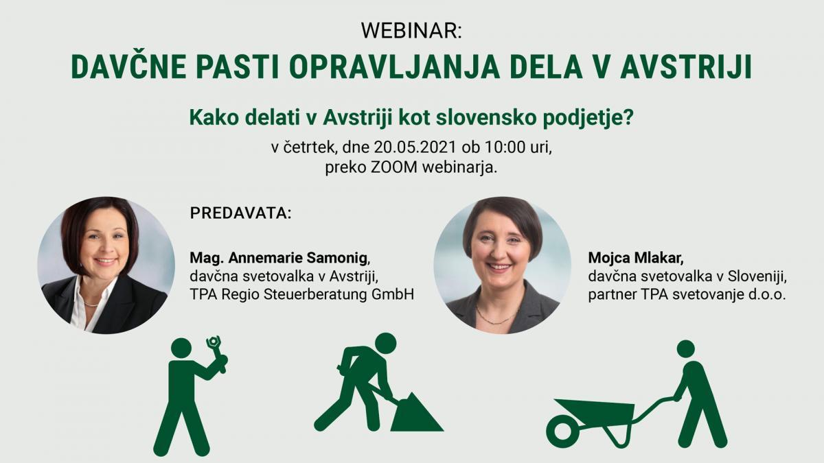 Slika: Webinar: Davčne pasti opravljanja dela v Avstriji - 20.05.2021