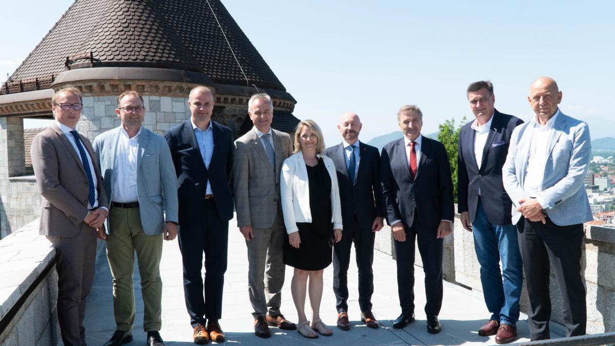 Slika: skupna delegacija v Slovenijo - 14-.15.06.2021
