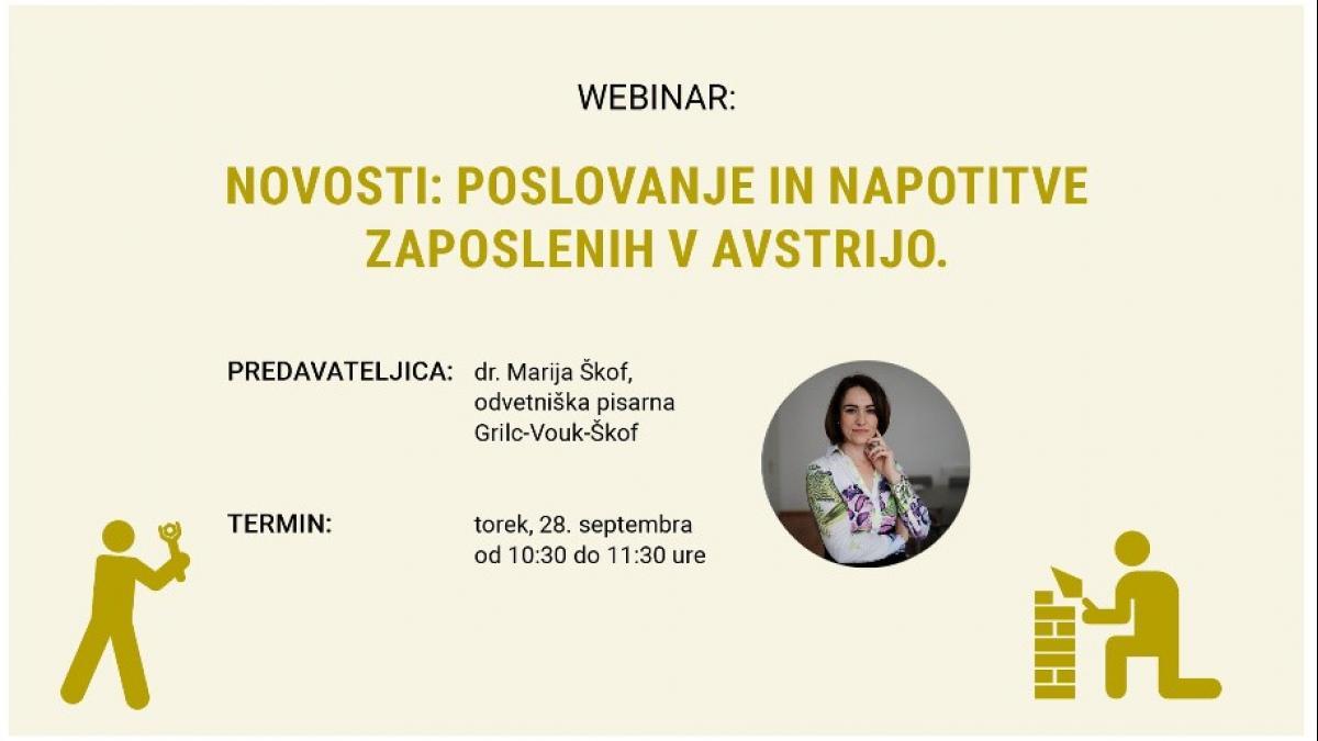 Slika: webinar SGZ Maria Škof