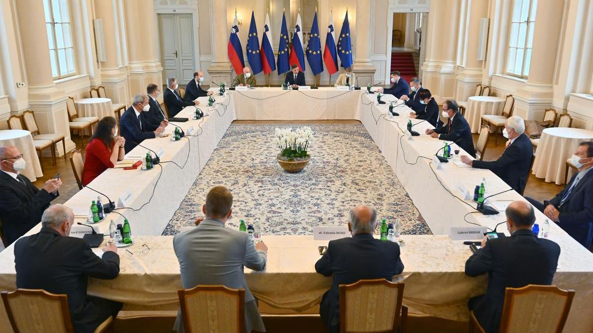 Slika: Predsednik republike se je sestal s predstavniki slovenske narodne skupnosti v Republiki Avstriji