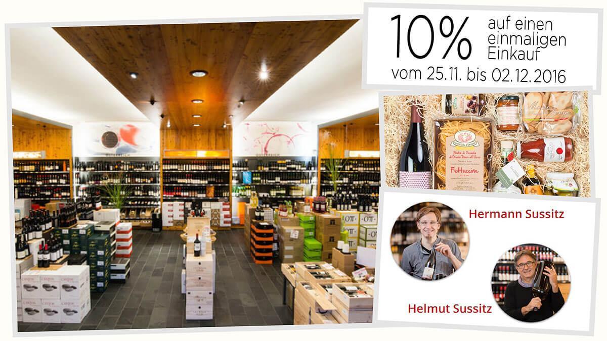 Slika: Petkov kolaž: Prednovoletna/Miklavževa ponudba vin in darilnega programa – Sussitz