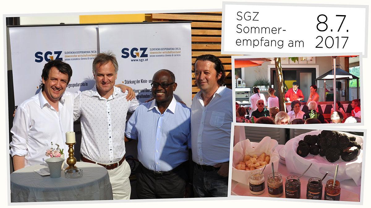 Slika: Petkov kolaž: Poletni sprejem članov SGZ