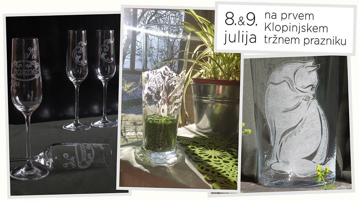 Slika: Petkov kolaž: Aleksandra's Glasgravuren