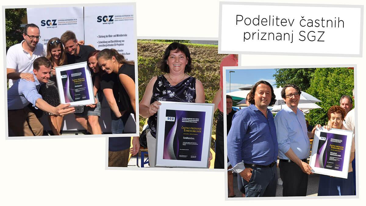 Slika: Petkov kolaž: Podelitev častnih priznanj SGZ
