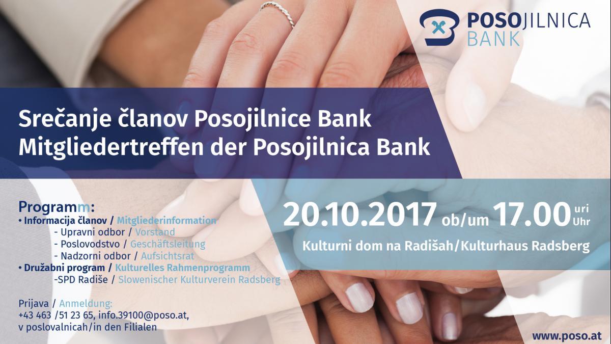 Bild: Mitgliedertreffen der Posojilnica Bank